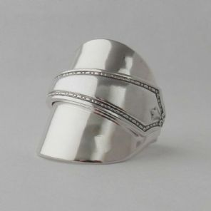Silver Spoon Ring dated 1928 Handmade Antique Solid Sterling 925